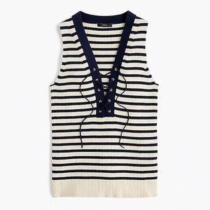 NWT J. Crew Lace Up Top